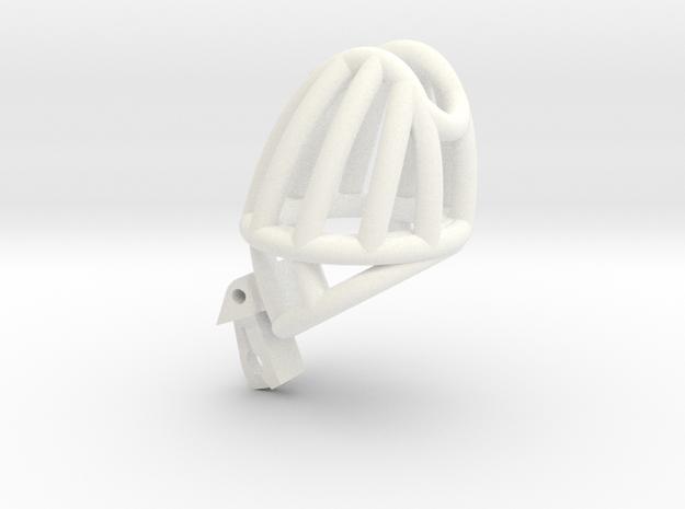 "Cherry Keeper ""Headlock"" Cage - Standard in White Processed Versatile Plastic: Medium"