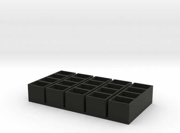 quad long 11x15x14 speaker box qty5 in Black Natural Versatile Plastic