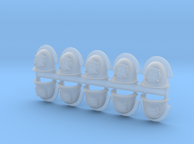 Pauldron_AngryMarine_01 in Smooth Fine Detail Plastic
