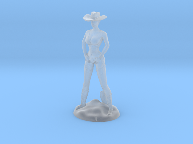 Cowgirl with Cactus (28mm Scale Miniature)