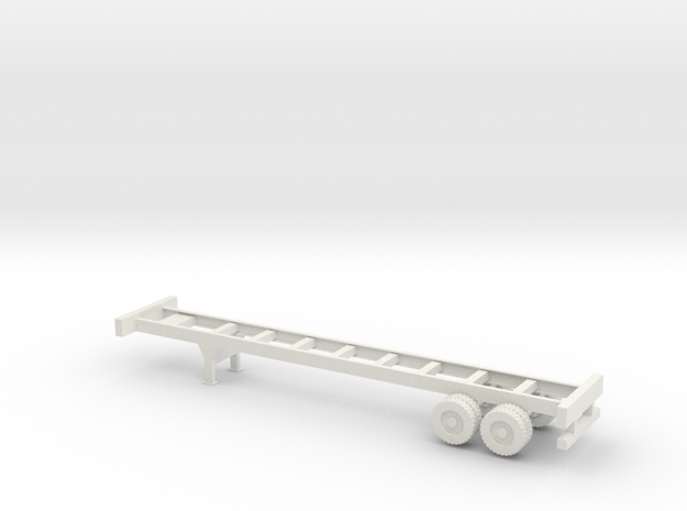 40 foot Container Chassis - 1:32scale in White Natural Versatile Plastic
