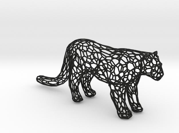 Leopard in Black Natural Versatile Plastic