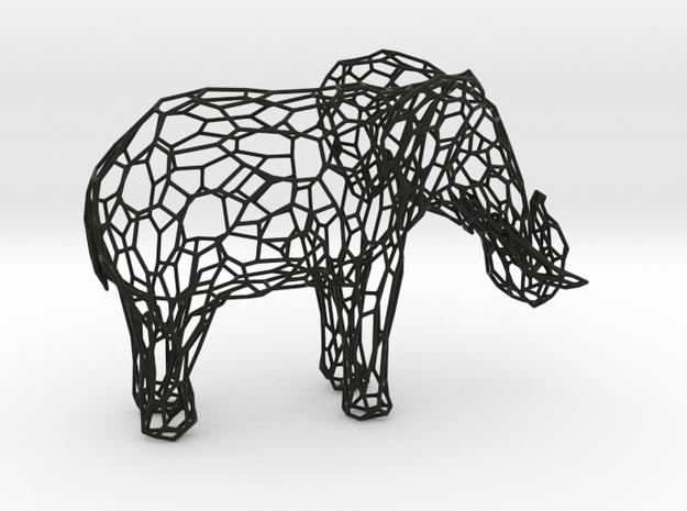 ELEPHANT in Black Natural Versatile Plastic