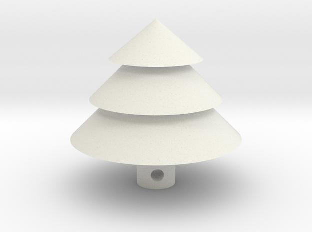Christmas Tree Keychain in White Natural Versatile Plastic