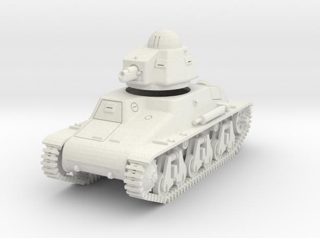 PV43D Hotchkiss H35 Light Tank (1/56) in White Natural Versatile Plastic