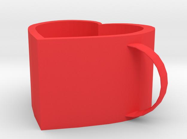 Love mug in Red Processed Versatile Plastic