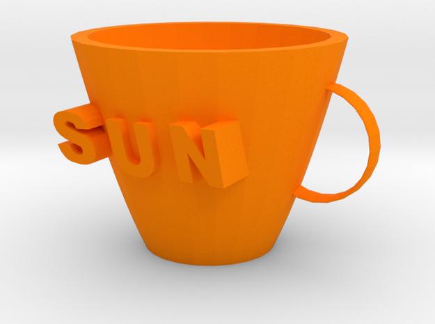 Sun mug in Orange Processed Versatile Plastic