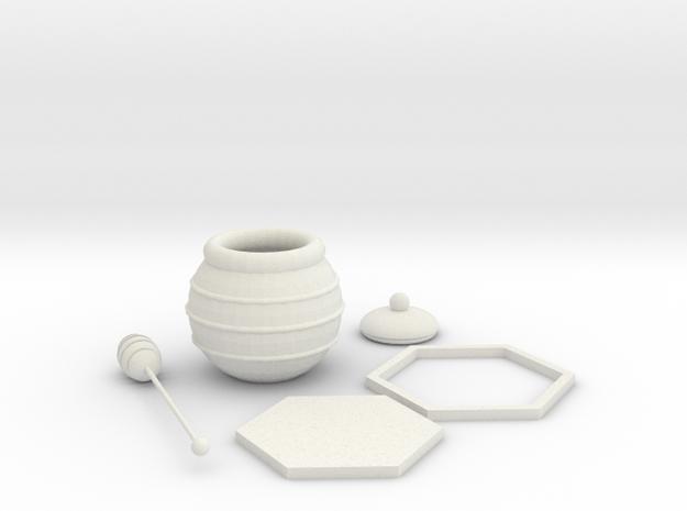 Honey Combination in White Natural Versatile Plastic: Medium