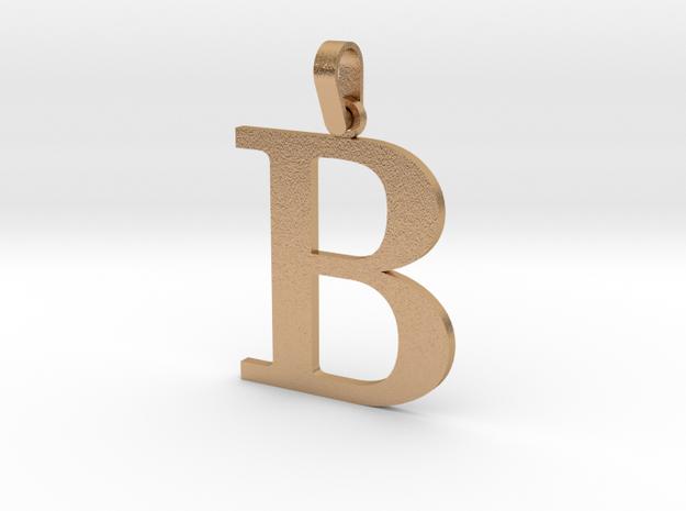 B Letter Pendant in Natural Bronze (Interlocking Parts)