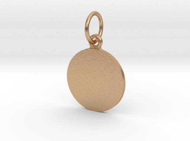 Pendant Base Round 15 mm in Natural Bronze (Interlocking Parts)