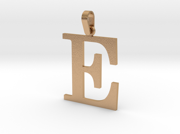 E Letter Pendant in Natural Bronze (Interlocking Parts)
