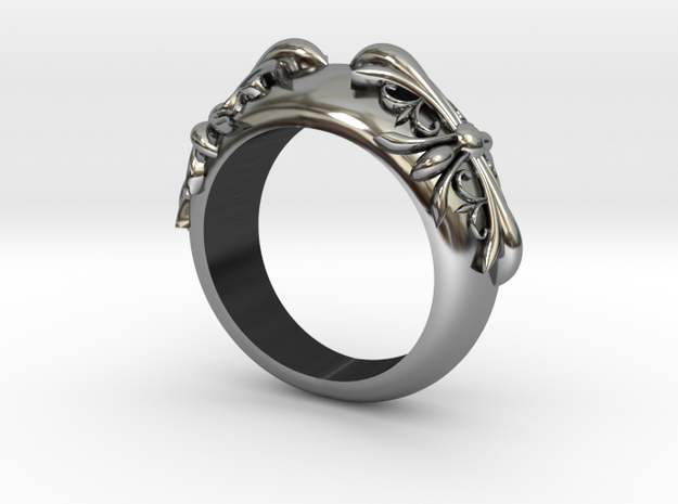 Gothic Cross Ring  in Antique Silver