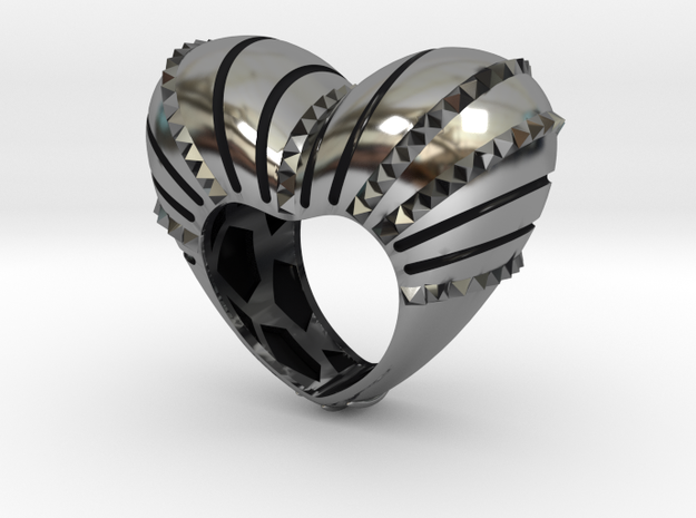 Crazy In Love Ring  in Antique Silver