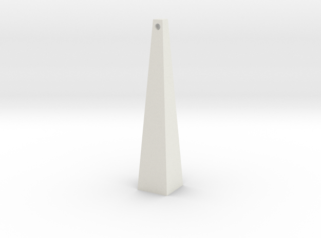 trapz earring in White Natural Versatile Plastic