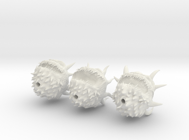 cacodemons in tabletop scale in White Natural Versatile Plastic
