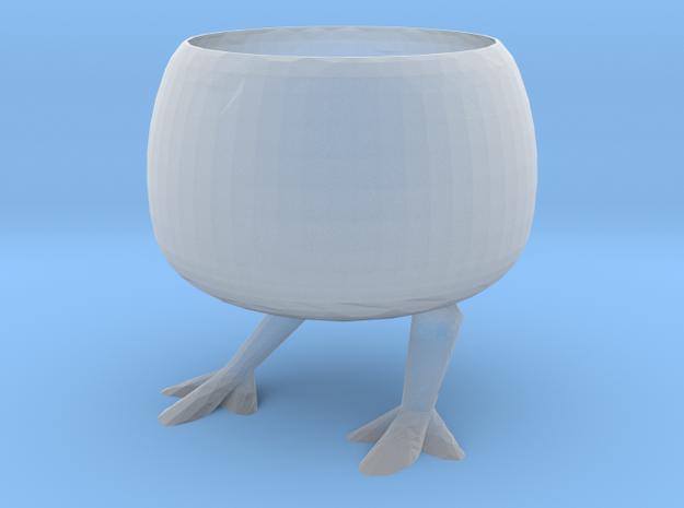 Chicken Flowerpot in Smooth Fine Detail Plastic