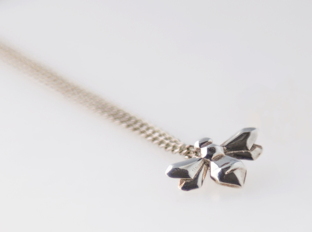 Bee Pendant in Polished Silver