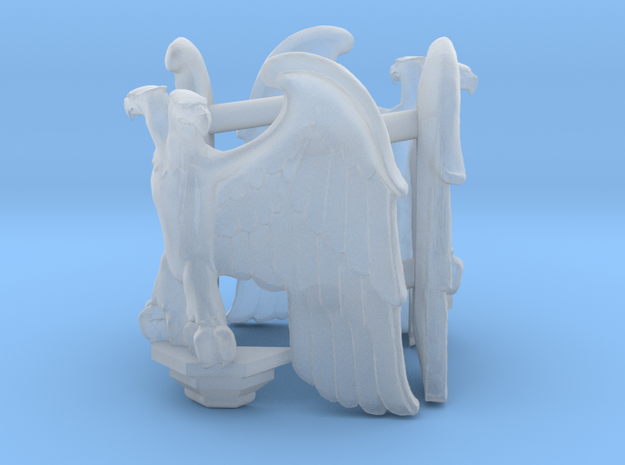 Imperial Eagle corner statue -40K in Smooth Fine Detail Plastic