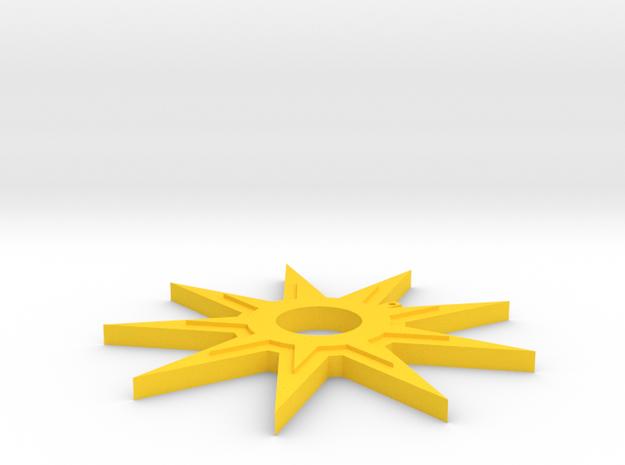 太陽.stl in Yellow Processed Versatile Plastic: Medium