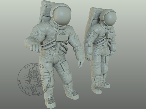 Apollo 11 Astronauts 1:48 in Smoothest Fine Detail Plastic