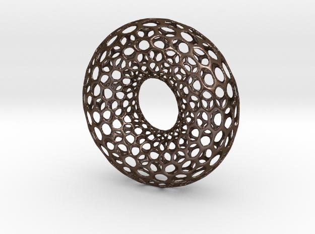 Hexagrid Torus in Polished Bronze Steel