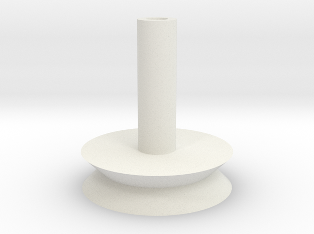 Magnetized Flight Stand 25mm base in White Natural Versatile Plastic: Small