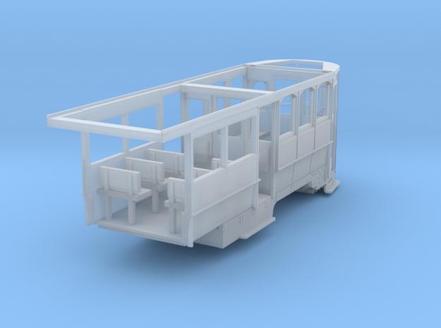 Wellington Tram Final cond. rear half in Smooth Fine Detail Plastic
