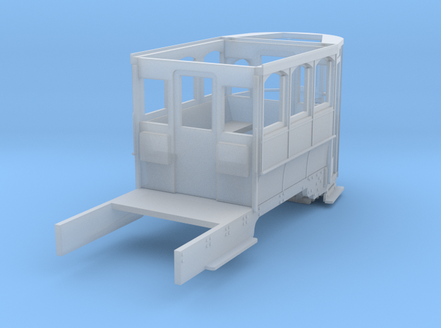 Wellington Tram Final Cond. front half motorisable in Smooth Fine Detail Plastic