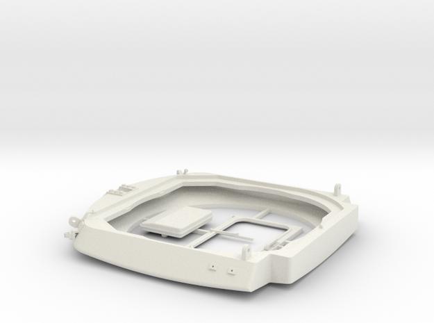 Leopard1_DT_turret_1_16_pt1of4 in White Natural Versatile Plastic