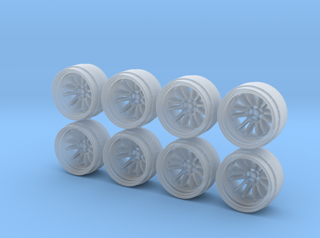 XT206r 9-0 Hot Wheels Rims in Smoothest Fine Detail Plastic