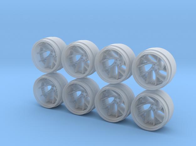 SV67C 9-0 Hot Wheels Rims in Smoothest Fine Detail Plastic