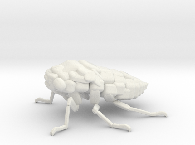 Cicada! The Somewhat Square-ish Sculpture in White Natural Versatile Plastic