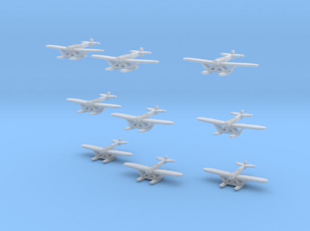 Heinkel HE5 (S5A) set of 9 in Smoothest Fine Detail Plastic: 1:1250