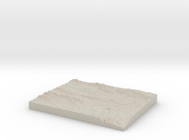 Model of Rebels' Kloof in Natural Sandstone