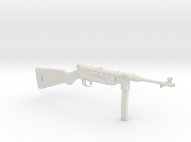 1/3 Scale MP41  Machine Gun in White Natural Versatile Plastic