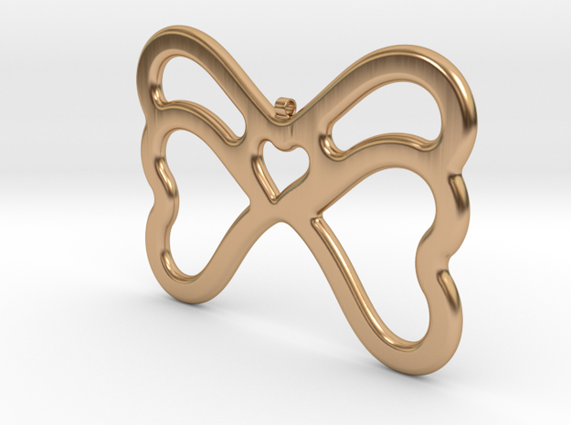 Butterfly Pendant / Necklace-21 in Polished Bronze