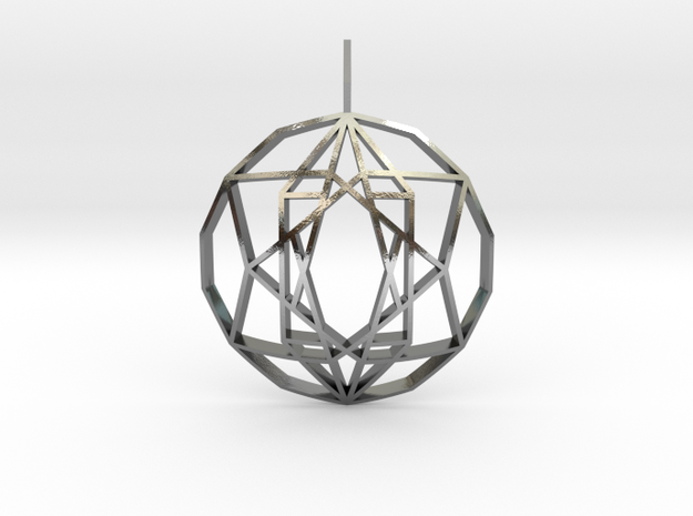 Star of Hope (Domed) in Polished Silver
