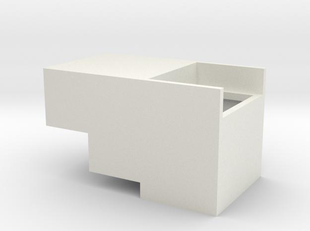 Intermountain HO ES44DC Front Speaker Enclosure in White Natural Versatile Plastic