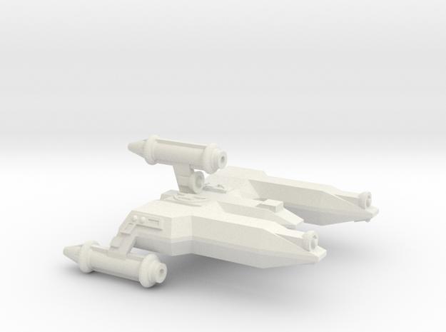 3788 Scale Lyran War Destroyer Scout (DWS) CVN in White Natural Versatile Plastic