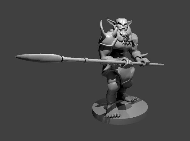 Bugbear with a Lance in Smooth Fine Detail Plastic