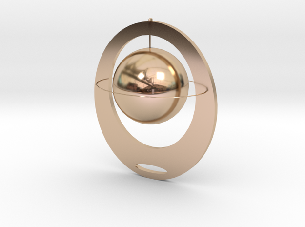The falling of planets in 14k Rose Gold