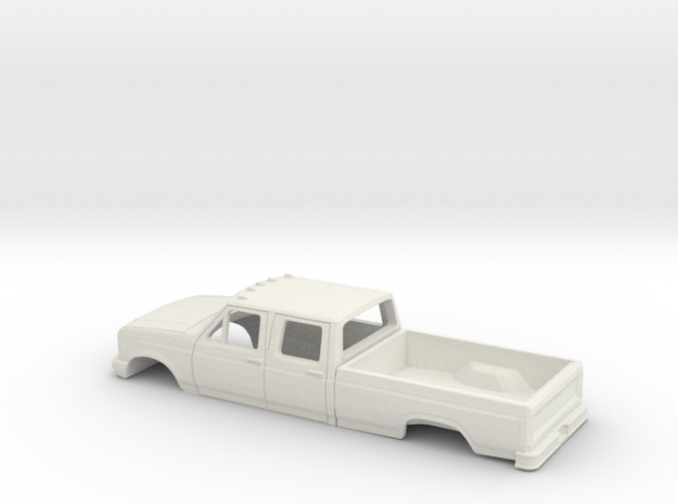 1/32 1987-91 Ford F-Series CrewCab Reg Bed Shell in White Natural Versatile Plastic