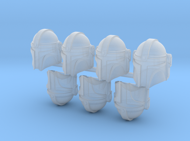 Manly Man Bucketheads (x7) in Smoothest Fine Detail Plastic