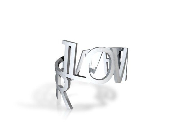 Ring Poem in White Strong & Flexible