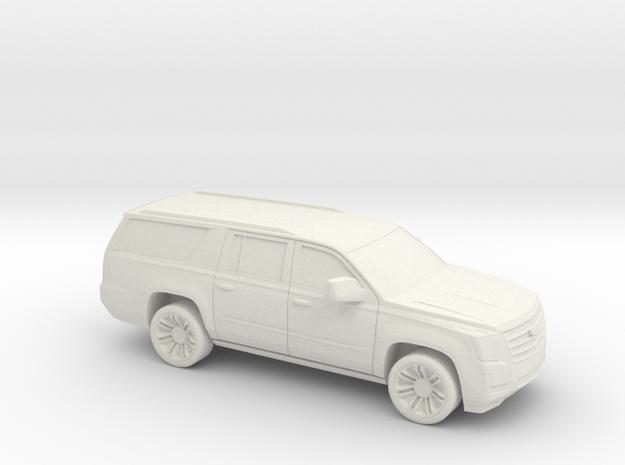 1/64 2015-18 Cadillac Escalade XL in White Natural Versatile Plastic