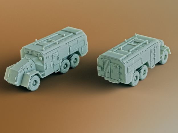 AEC Armoured Command Vehicle 6x6 Scale: 1:100 in Smooth Fine Detail Plastic