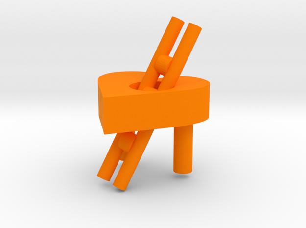 love in Orange Processed Versatile Plastic