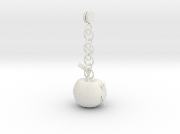 Exquisite earrings in White Natural Versatile Plastic: Small