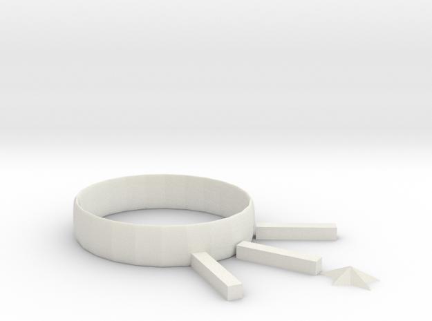 Fabulous Turing-Amberis (1) in White Natural Versatile Plastic: Small