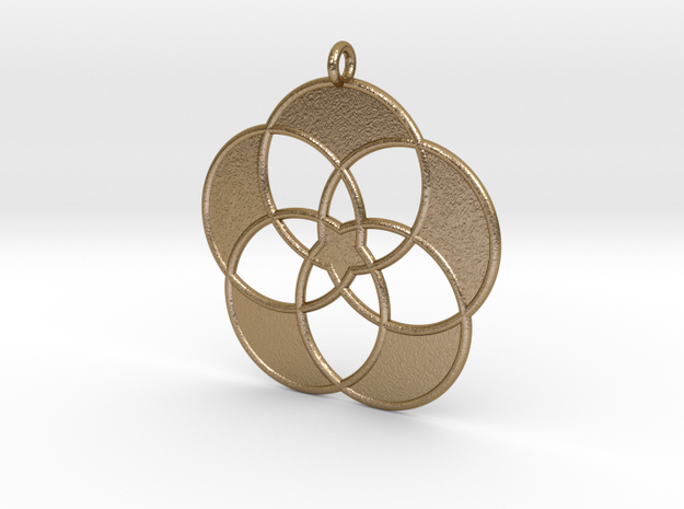 Hypatia Society Pendant in Polished Gold Steel